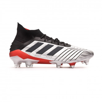 Scarpe  adidas Predator 19.1 SG Silver metallic-Core black-Hi red