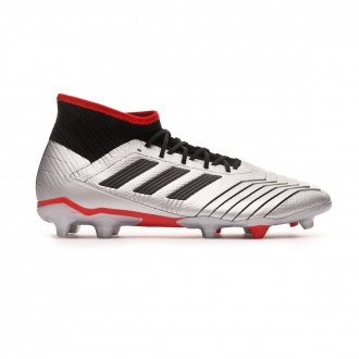 Chaussure de foot  adidas Predator 19.2 FG Silver metallic-Core black-Hi red