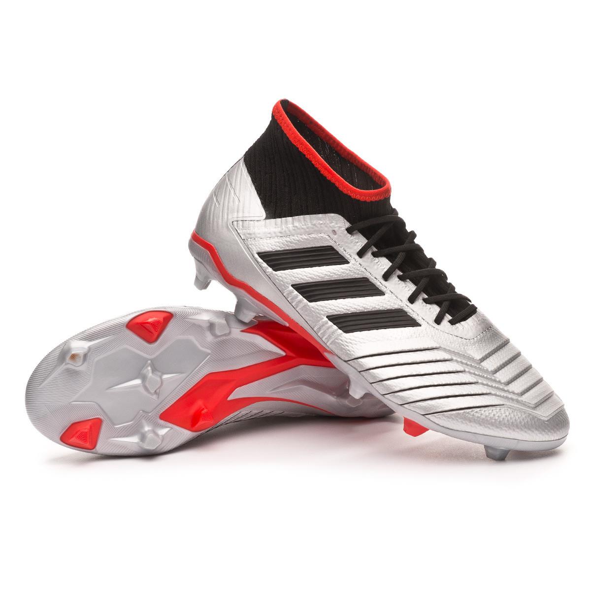 df5acfa43 Football Boots adidas Predator 19.2 FG Silver metallic-Core black-Hi red -  Football store Fútbol Emotion