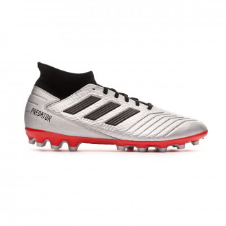 Football Boots  adidas Predator 19.3 AG Silver metallic-Core black-Hi red
