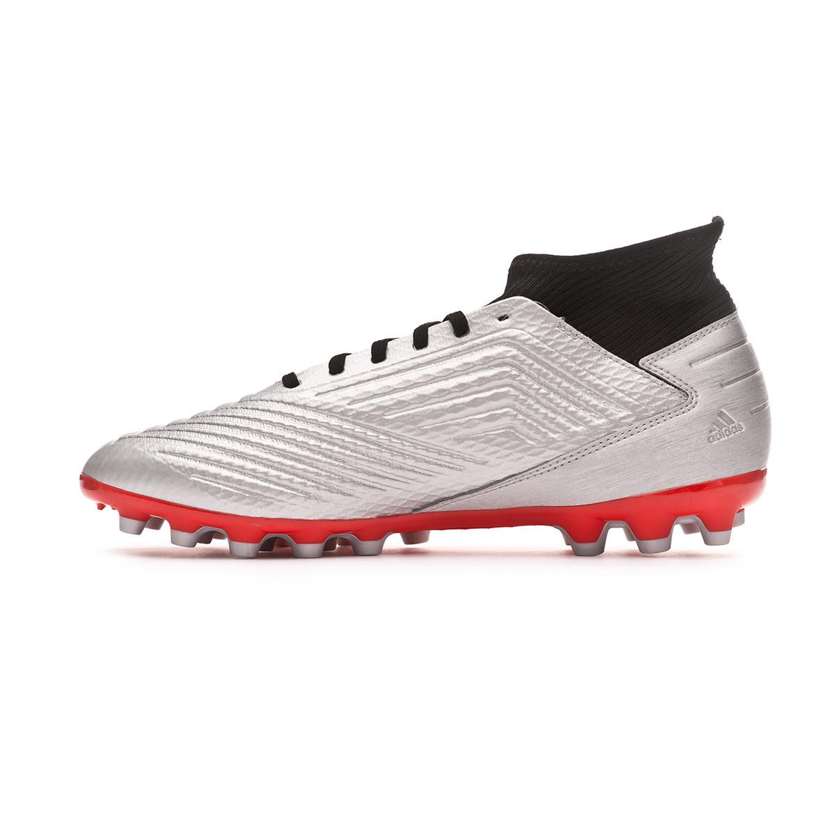 dc2c7d2dac4a9f Scarpe adidas Predator 19.3 AG Silver metallic-Core black-Hi red - Negozio di  calcio Fútbol Emotion