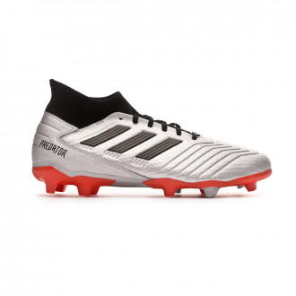Chaussure de foot  adidas Predator 19.3 FG Silver metallic-Core black-Hi red