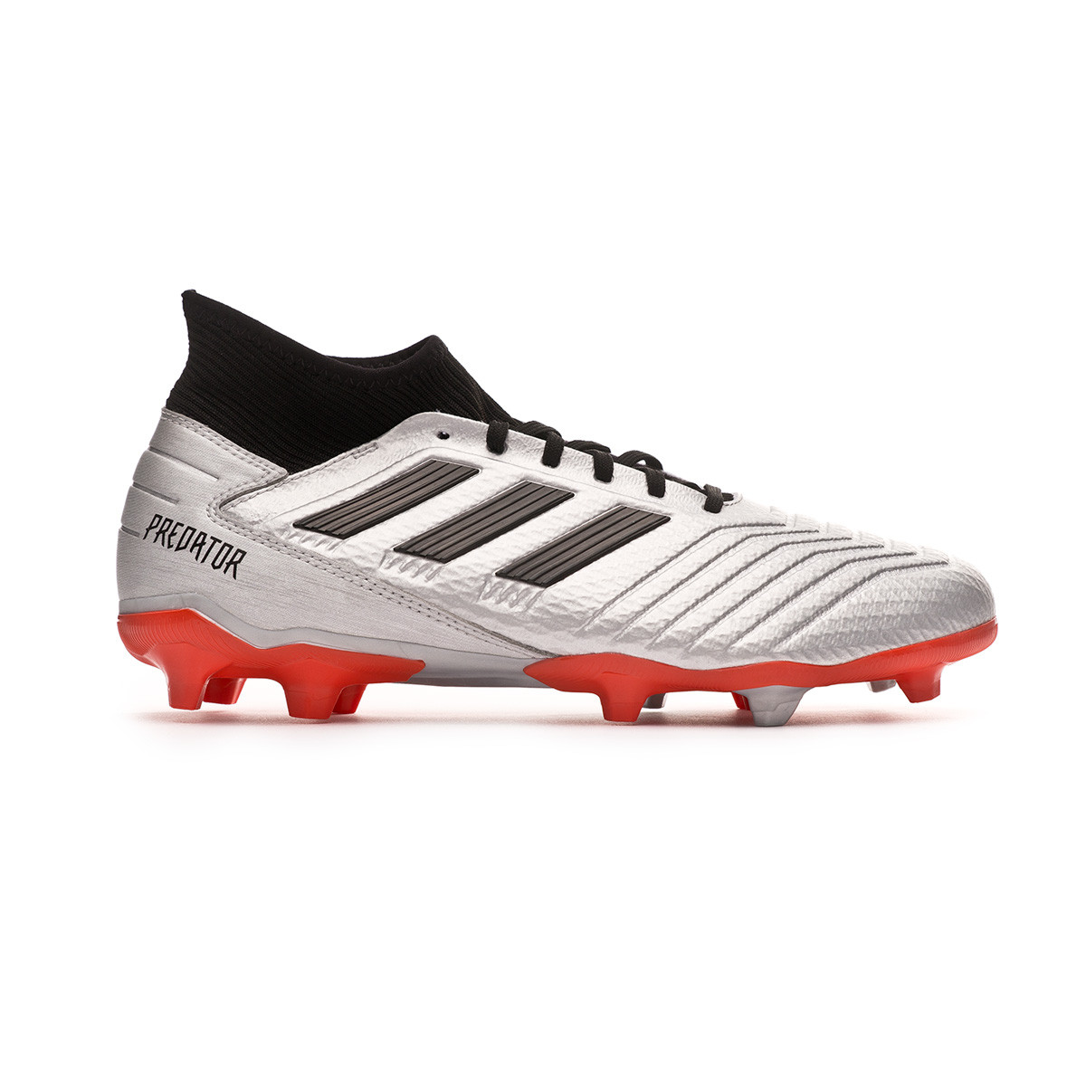 e2af8aaa9b0 Football Boots adidas Predator 19.3 FG Silver metallic-Core black-Hi red -  Football store Fútbol Emotion