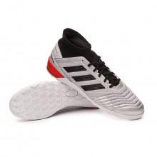 Sapatilha de Futsal Predator 19.3 IN Silver metallic-Core black-Hi red
