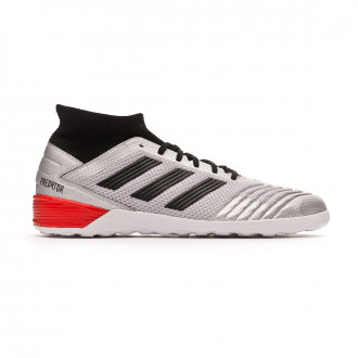 Sapatilha de Futsal adidas Predator 19.3 IN Silver metallic-Core black-Hi red
