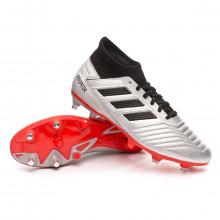 Football Boots Predator 19.3 SG Silver metallic-Core black-Hi red