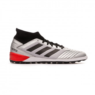 Chaussure de football  adidas Predator 19.3 Turf Silver metallic-Core black-Hi red