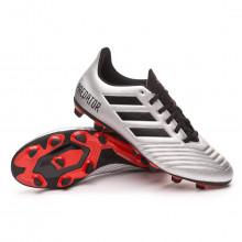 Bota Predator 19.4 FxG Silver metallic-Core black-Hi red