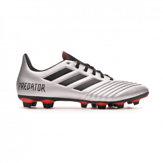 Bota  adidas Predator 19.4 FxG Silver metallic-Core black-Hi red