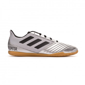 Sapatilha de Futsal  adidas Predator 19.4 IN Sala Silver metallic-Core black-Hi red