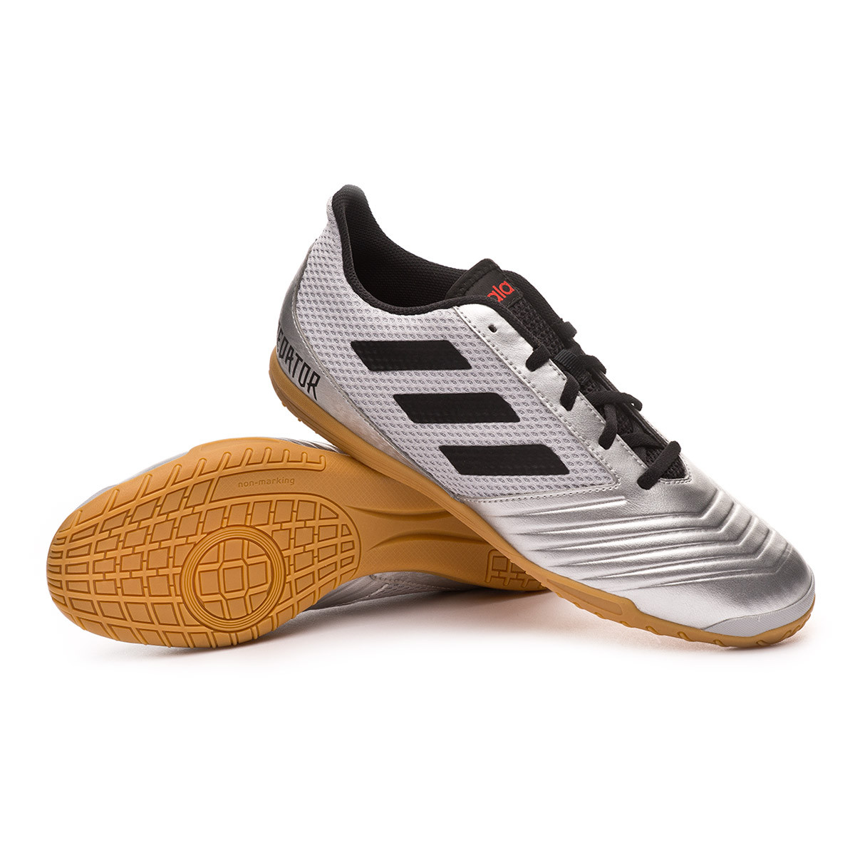 b8337615e6f Futsal Boot adidas Predator 19.4 IN Sala Silver metallic-Core black-Hi red  - Football store Fútbol Emotion