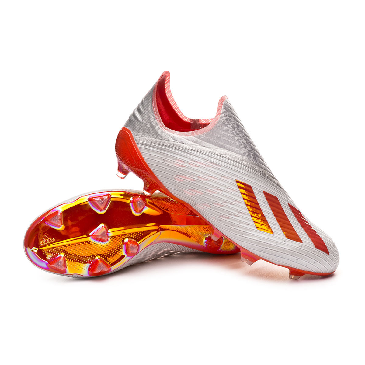 5cc1eb141 Football Boots adidas X 19+ FG Silver metallic-Hi red-White - Football  store Fútbol Emotion
