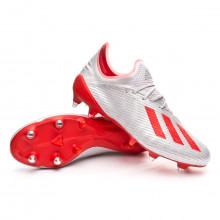 Bota X 19.1 SG Silver metallic-Hi red-White