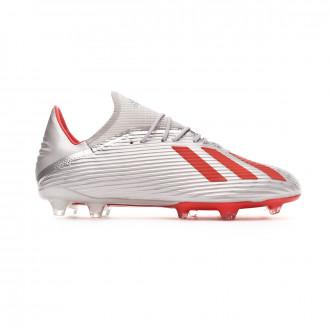 Scarpe   adidas X 19.2 FG Silver metallic-Hi red-White