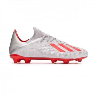 Bota  adidas X 19.3 FG Silver metallic-Hi red-White