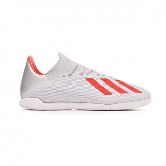 Sapatilha de Futsal  adidas X 19.3 IN Silver metallic-Hi red-White
