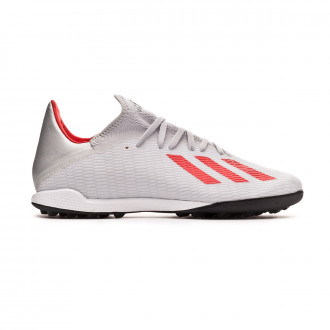 Football Boot  adidas X 19.3 Turf Silver metallic-Hi red-White