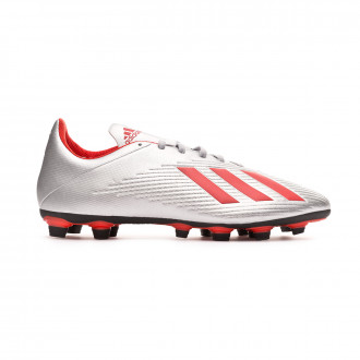 Football Boots  adidas X 19.4 FxG Silver metallic-Hi red-Core black