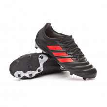 Zapatos de fútbol Copa 19.1 FG Niño Core black-Hi red-Silver metallic