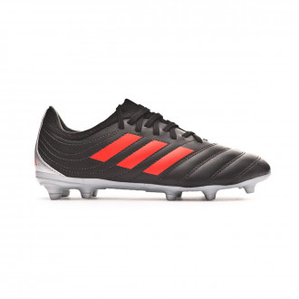 Chaussure de foot  adidas Copa 19.3 FG enfant Core black-H-RES red-Silver metallic