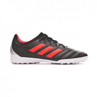 Chaussure de football  adidas Copa 19.3 Turf enfant Core black-H-RES red-Silver metallic