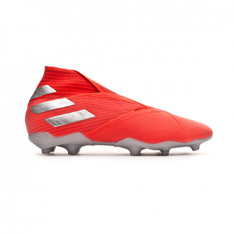Chaussure de foot  adidas Nemeziz 19+ FG enfant Active red-Silver metallic-Solar red