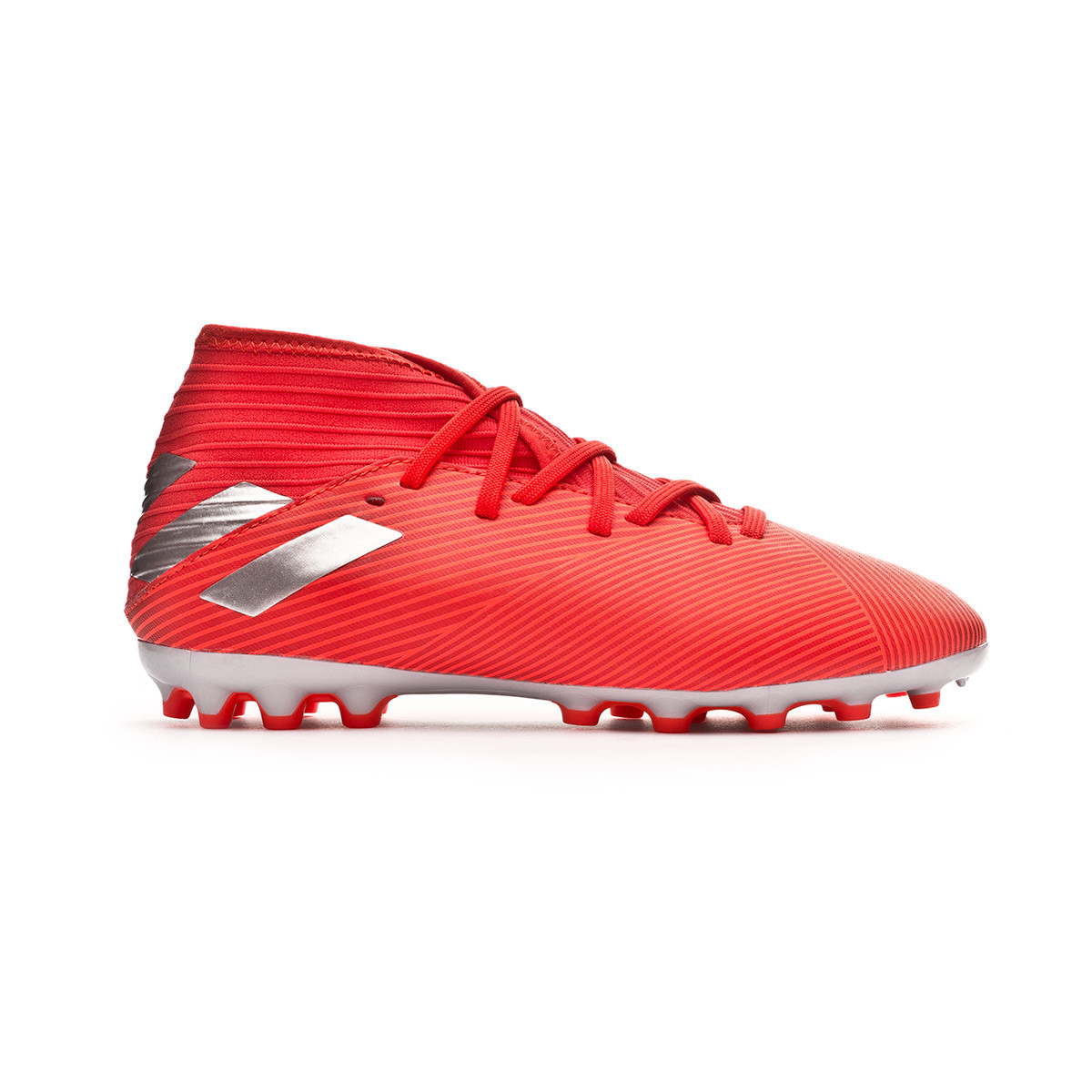 cb2f1c980be Football Boots adidas Nemeziz 19.3 AG Niño Active red-Silver metallic-Solar  red - Football store Fútbol Emotion