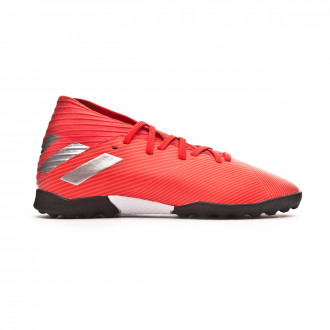 Chaussure de football  adidas Nemeziz 19.3 Turf enfant Active red-Silver metallic-Solar red