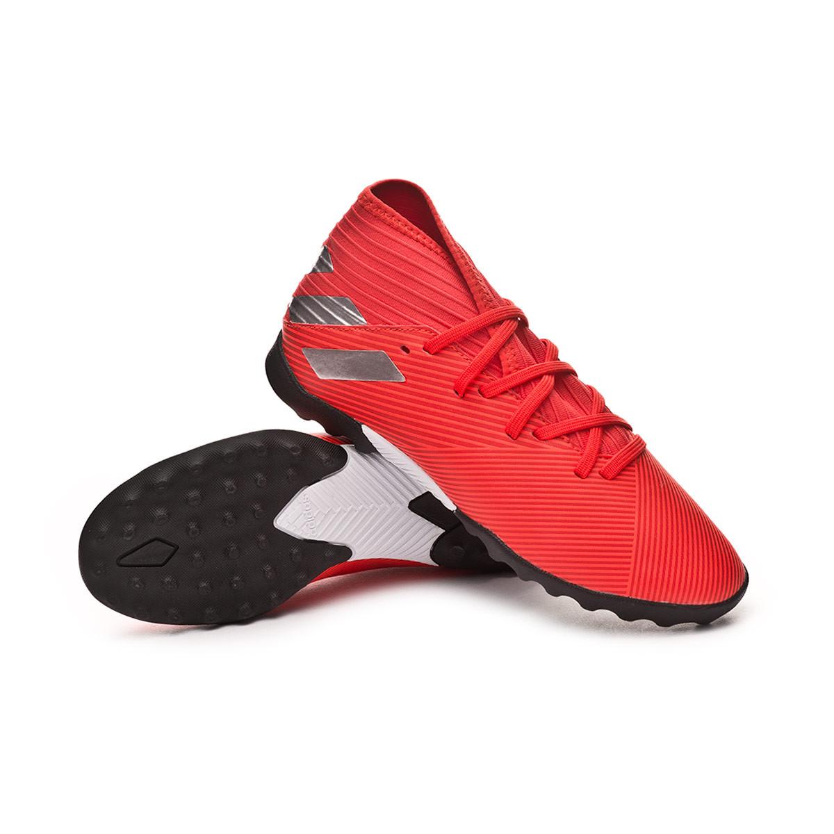 a72863b90c2 Football Boot adidas Nemeziz 19.3 Turf Niño Active red-Silver metallic-Solar  red - Football store Fútbol Emotion