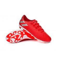 Football Boots Nemeziz 19.4 FxG Niño Active red-Silver metallic-Solar red