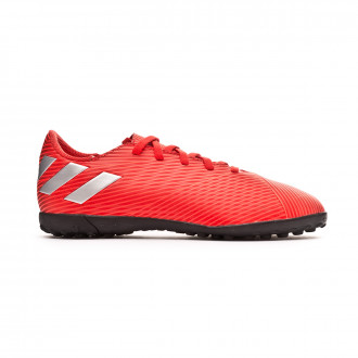 Chaussure de football  adidas Nemeziz 19.4 Turf enfant Active red-Silver metallic-Solar red