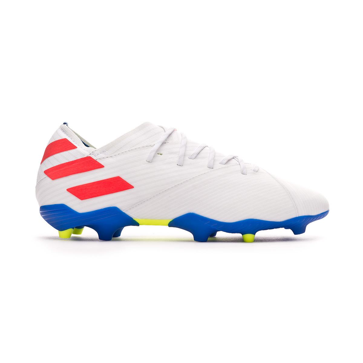Bota Red White Solar Blue 19 Niño 1 Fg Nemeziz Football Messi CoxBde