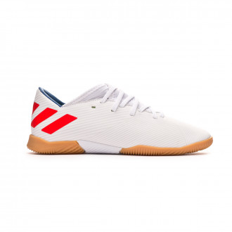 Tenis  adidas Nemeziz Messi 19.3 IN Niño White-Solar red-Football blue