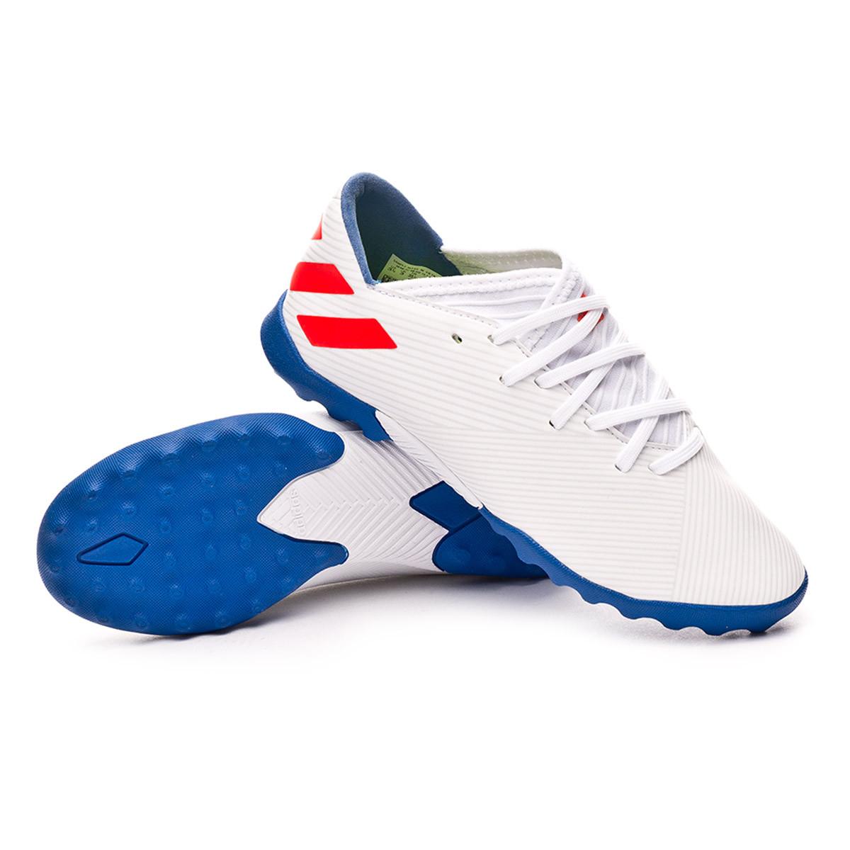 e185ae95d Football Boot adidas Kids Nemeziz Messi 19.3 Turf White-Solar red-Football  blue - Football store Fútbol Emotion