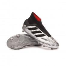 Bota Predator 19+ FG Niño Silver metallic-Core black-Hi red