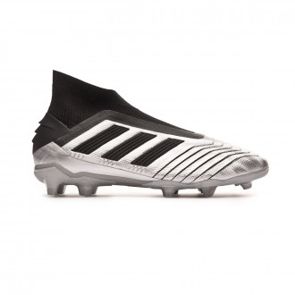Football Boots  adidas Kids Predator 19+ FG  Silver metallic-Core black-Hi red