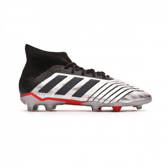 Football Boots  adidas Kids Predator 19.1 FG  Silver metallic-Core black-Hi red