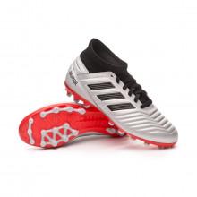 Bota Predator 19.3 AG Niño Silver metallic-Core black-Hi red