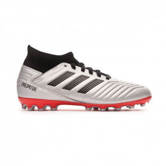 Football Boots  adidas Kids Predator 19.3 AG  Silver metallic-Core black-Hi red
