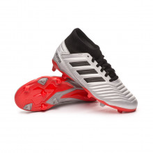 Football Boots Kids Predator 19.3 FG  Silver metallic-Core black-Hi red