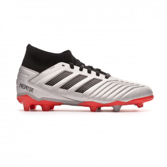 Football Boots  adidas Kids Predator 19.3 FG  Silver metallic-Core black-Hi red