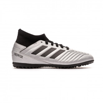 Chaussure de football  adidas Predator 19.3 Turf enfant Silver metallic-Core black-HI-RED red