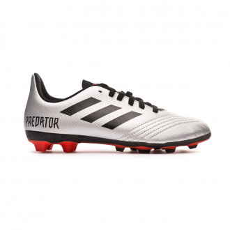Football Boots  adidas Predator 19.4 FxG Niño Silver metallic-Core black-Hi red