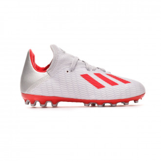 Football Boots  adidas X 19.3 AG Niño Silver metallic-Hi red-White