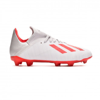 Football Boots  adidas X 19.3 FG Niño Silver metallic-Hi red-White