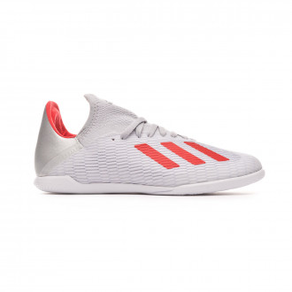 Futsal Boot  adidas X 19.3 IN Niño Silver metallic-Hi red-White