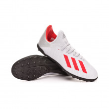 Sapatilhas X 19.3 Turf Niño Silver metallic-Hi red-White