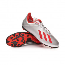 Football Boots X 19.4 FxG Niño Silver metallic-Hi red-White
