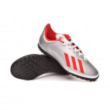 Chaussure de football X 19.4 Turf enfant Silver metallic-Hi red-White