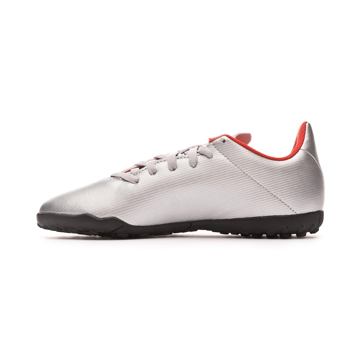 2ad7a821e Football Boot adidas X 19.4 Turf Niño Silver metallic-Hi red-White -  Football store Fútbol Emotion